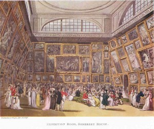The Exhibition Room, Somerset House, engraved by John Hill